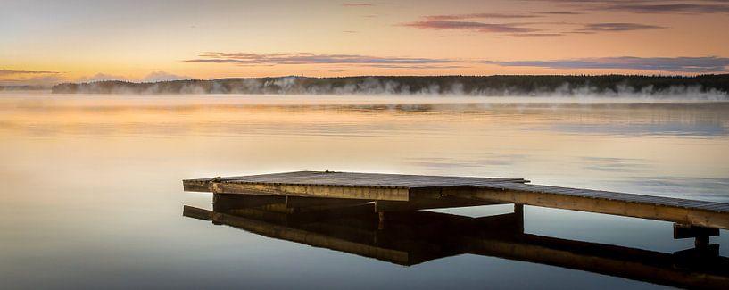 Vroege zonsopgang in Zweden van Hamperium Photography