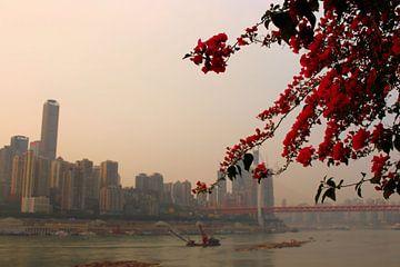 Yangtze Rivier Poëzie 1 - Chongqing, China van Loretta's Art