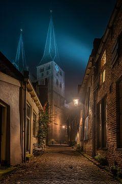 Deventer bij nacht van Martin Podt