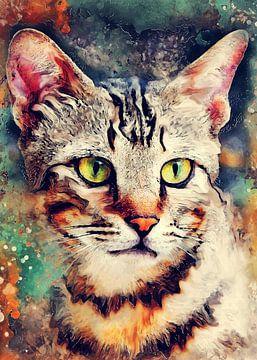 Katze 14 Tiere Kunst #Katze #Katzen #Kätzchen von JBJart Justyna Jaszke