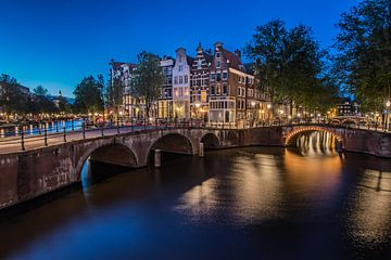 Keizersgracht Amsterdam na zonsondergang sur Arthur Puls Photography