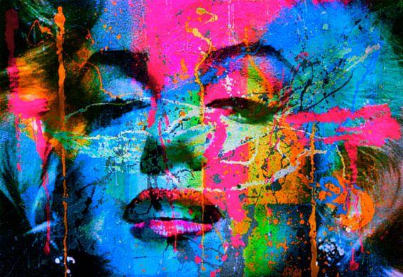 Mariyln Monroe Collage Pop Art PUR 1 van Felix von Altersheim
