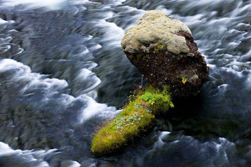 Rock in water van John Been