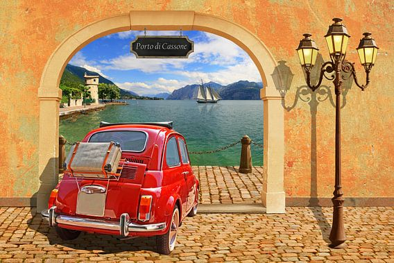 Een kleine haven in Italië