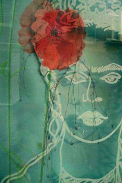 Frida met klaproos van Marianna Pobedimova