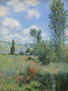 Vue de Vétheuil, Claude Monet sur