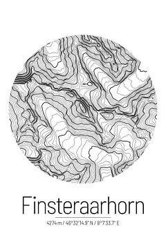 Finsteraarhorn | Kaart Topografie (Minimaal) van ViaMapia