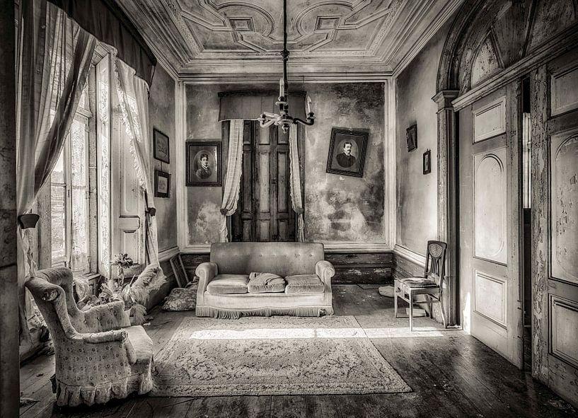 Wohnzimmer schwarz und weiß von Kelly van den Brande