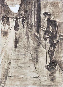 Straatbeeld van Berlijn, LESSER URY, 1915-1920 van Atelier Liesjes