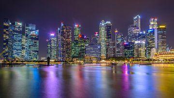 Skyline Singapore sur Erik Noort