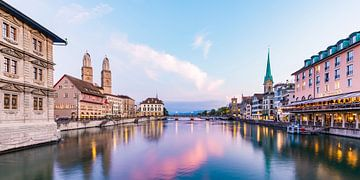 Oude binnenstad van Zürich van Werner Dieterich