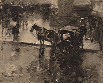 Childe Hassam, The Up-Tide on the Avenue, 1890 von Atelier Liesjes