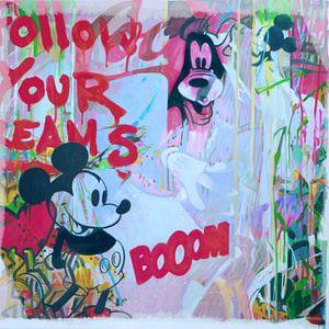 Motiv Follow u Dreams - Comic Street Art