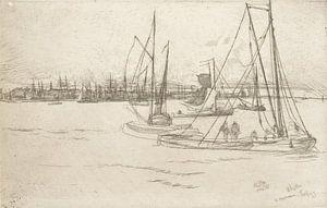 James McNeill Whistler, Amsterdam der Tolhuis - 1870