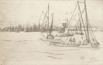 James McNeill Whistler, Amsterdam van het Tolhuis - 1870 van Atelier Liesjes