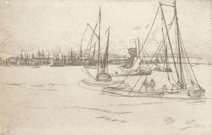 James McNeill Whistler, Amsterdam der Tolhuis - 1870 von Atelier Liesjes