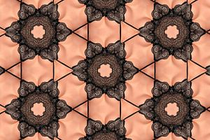 Vrouw in kanten ondergoed (Kaleidoscoop) van Carl Remmers