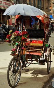Rickshaw in Kathmandu, Nepal van Xandra Ribbers