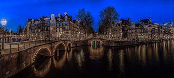 Panorama Amsterdamse Grachten sur Mario Calma