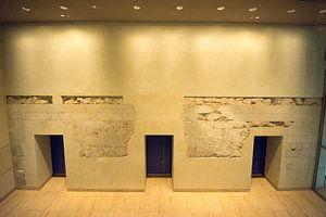 Ingemetselde restanten van Berlijnse Muur