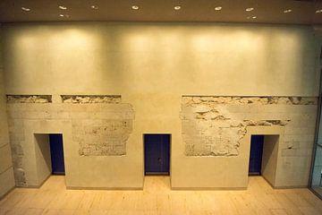 Ingemetselde restanten van Berlijnse Muur van