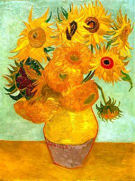 Vase mit 12 Sonnenblumen - Vincent van Gogh -1888 von Jan Willem van Doesburg