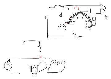 Analoge Kamera-Silhouette (Leica M6-Stil) von Drawn by Johan