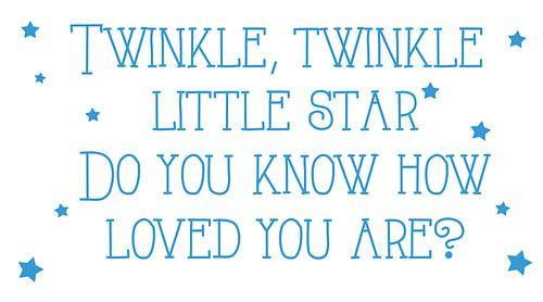 Twinkle twinkle star canvas
