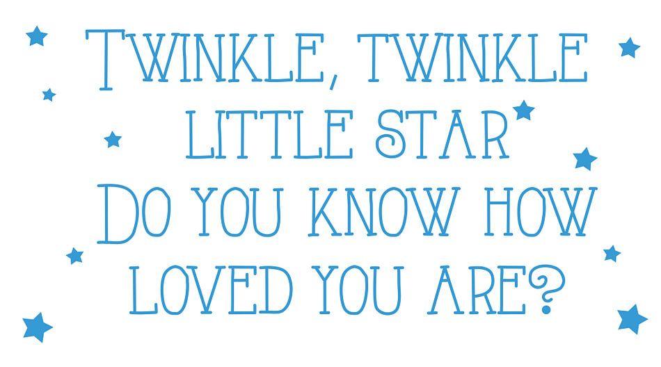 Twinkle twinkle star canvas van Pim Michels