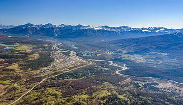 Jasper National Park vom Pfeifer-Berg, Kanada von Rietje Bulthuis