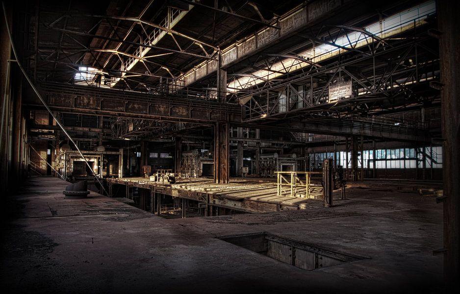 Verlaten sinter fabriek