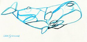 Minimalistischer Wal von Celeste Groenewald
