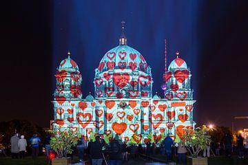 Berlijnse Dom in een bijzonder licht met harten