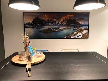 Kundenfoto: Lofoten Norwegen Panorama - Reine (Moskenes) von Sven Broeckx