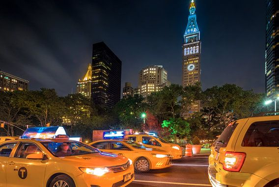 New  York     Taxis am Madison Square Garden