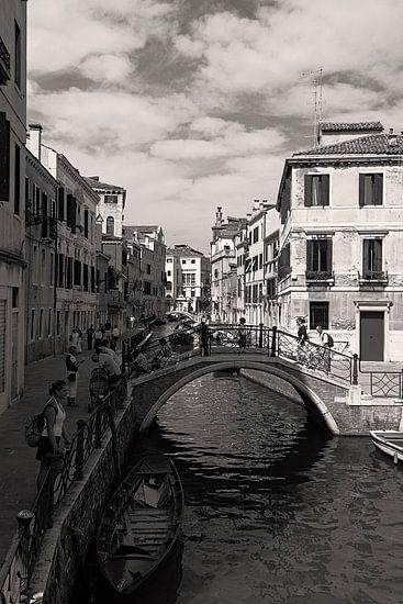 De waterwegen van Venetie, Italie