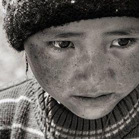 Kind in Zanskar vallei van Affect Fotografie