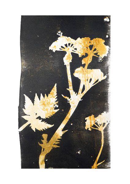 Botanische planten en bloemen afdruk Fluitenkruid van Angela Peters