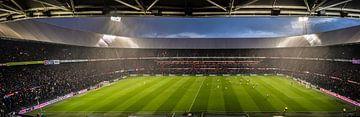Panoramafoto vom Feyenoord-Spiel am Kuip