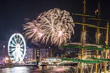 SAIL AMSTERDAM 2015: vuurwerkshow. van