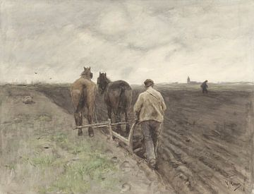 Pflügender Landwirt, Anton Mauve