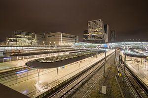 Station Utrecht Centraal bij Nacht
