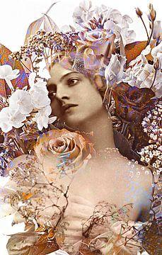 Vintage flowergirl no. 1 von PictureWork - Digital artist