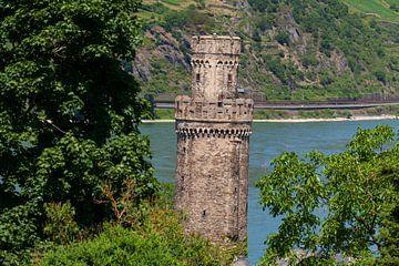 Ochsenturm met Rijn, ; Oberwesel; Unesco Werelderfgoed Boven-Midden-Rijndal; Rijnland-Palts; Duitsla van Torsten Krüger