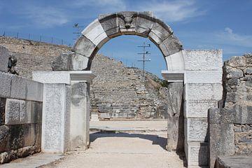 Ronde boog / poort bij het amfitheater - Philippi / Φίλιπποι (Daton) - Griekenland van ADLER & Co / Caj Kessler