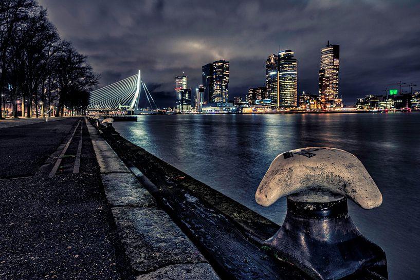 Westerkade 's nachts,  Rotterdam van Anton Osinga