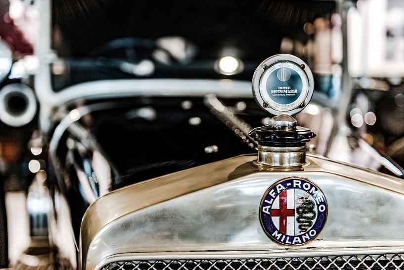 Alfa Romeo grille en radiator ornament van autofotografie nederland