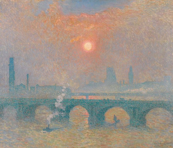 Waterloo-Brücke, London, Emile Claus von Meesterlijcke Meesters