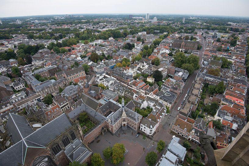 Uitzicht over Domplein. Utrecht van De Utrechtse Internet Courant (DUIC)