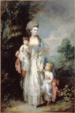 Frau Elizabeth Moody mit ihren Söhnen Samuel und Thomas, Thomas Gainsborough von